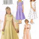 BUTTERICK #3714 Uncut Girls Sz 7-10 Short Sleeve or Sleeveless Dressy Dress
