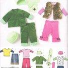 SIMPLICITY #3582 Uncut Infant Sz xxSm-Lg Pants, Jacket, Vest, Top, Hat & Scarf