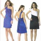 MCCALLS #6330 Uncut Sz 4-12 Close-fit, Straight Dress w/One Shoulder Strap