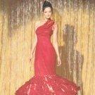SIMPLICITY #1737 Uncut Sz 4-12 Close-fit, One Shoulder Evening Dress w/Flounce