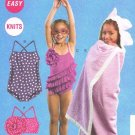 MCCALLS #6729 Uncut Child Sz 1-3 Swimsuit, Panties & Cover-Up