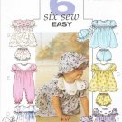 BUTTERICK #4110 Uncut Infants Dress w/Dirndle Skirt, Panties, Jumpsuit & Hat