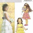 BUTTERICK #4967 Uncut Sz 2-5 Girl's Fancy Sleeveless Dress w/Tiered Skirt