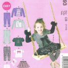MCCALLS #6593 Uncut Sz 1-3 Top, Skirt, Leggings & Arm Warmers; Optional trim