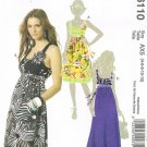 MCCALLS #6110 Uncut Sz 4-12 Sleeveless, Gathered Dress w/Low Neckline; 2 Lengths