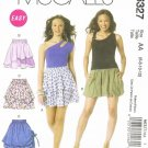 MCCALLS #6327 Uncut Sz 6-12 Pull-on, Short, Loose-fit Skirts w/Overskirt