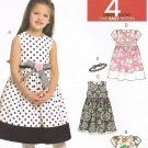 MCCALLS #5792 Uncut Sz 1-3 Semi-fit Bodice, Sleeveless Dresses & Headband