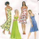 MCCALLS #4444 Uncut Sz 4-10 Halter Neck Dress, Fitted Bodice and Loose-fit Skirt