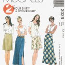 MCCALLS #2029 Uncut Sz 4-8 A-line or Bias Skirt Sewing Pattern