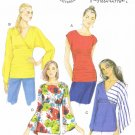 BUTTERICK #5857 Uncut Sz 16-26 Close-fit Pullover Tops; Neck Variations