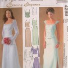 MCCALLS #4298 Uncut Sz 8-14 Bride/Bridemaid 2-Piece Dress; Optional Train