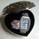 BETTY BOOP 36 Crystals Blue Dial Quartz Barrel Watch