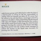 Vintage 1990 ROLEX CELLINI English Booklet