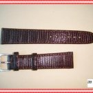 19mm Lizard-Grain Brown Leather Mens Watch Band Strap Fit For Rolex Tudor Omega