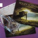 GENUINE ROLEX SET 3 : 2 SUBMARINER BOOKLETS 300m/1000ft ANCHORS, CALENDAR CARDS