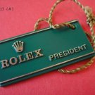 Vintage ROLEX PRESIDENT HANG TAG with original string & crown RARE