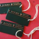 Vintage Collectible 3 ROLEX OYSTER  SWIMPRUF HANG TAGS with round edges