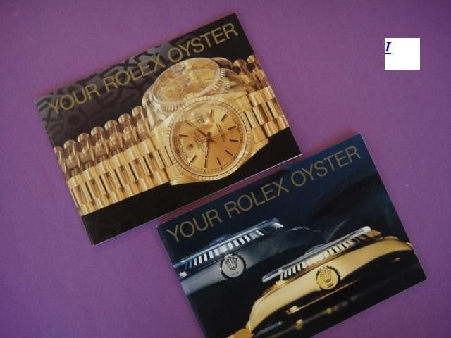 2 X Genuine 1989 YOUR ROLEX OYSTER ENGLISH Booklets DAYTONA EXPLORER SUBMARINER