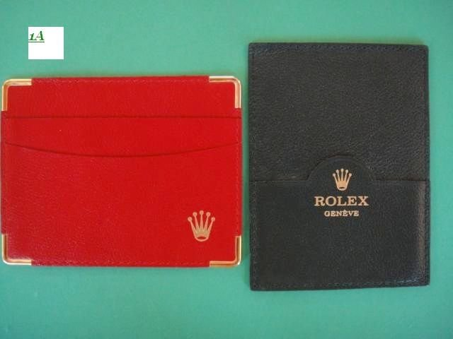 GENUINE ROLEX RED & GREEN LEATHER WALLETS DAYTONA EXPLORER SUBMARINER GMT MASTER