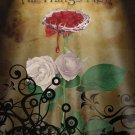 "Crimson Rose - {18x24""-Gallery Canvas Art}"