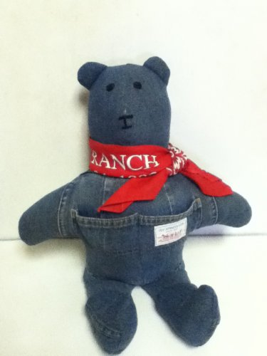 Plush Bear Stuffed Animal OAK Levis Bear with bandana 15""