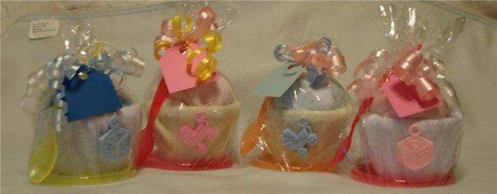 Onesie Washcloth Cupcake Baby Shower Favor Gift