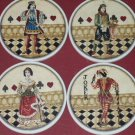 Jokers Wild Poker Coasters and Wood Caddy