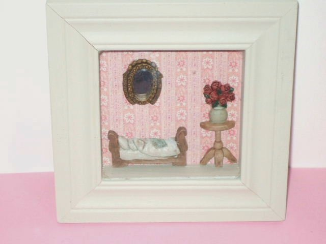 Doll House Furniture Shadowbox Unique Wall Decor