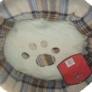 Cozy Pet Bed Soft Plaid Polyester Fleece