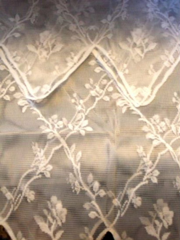 White Lace Curtains Lacy Curtain Set Tiers and Valance