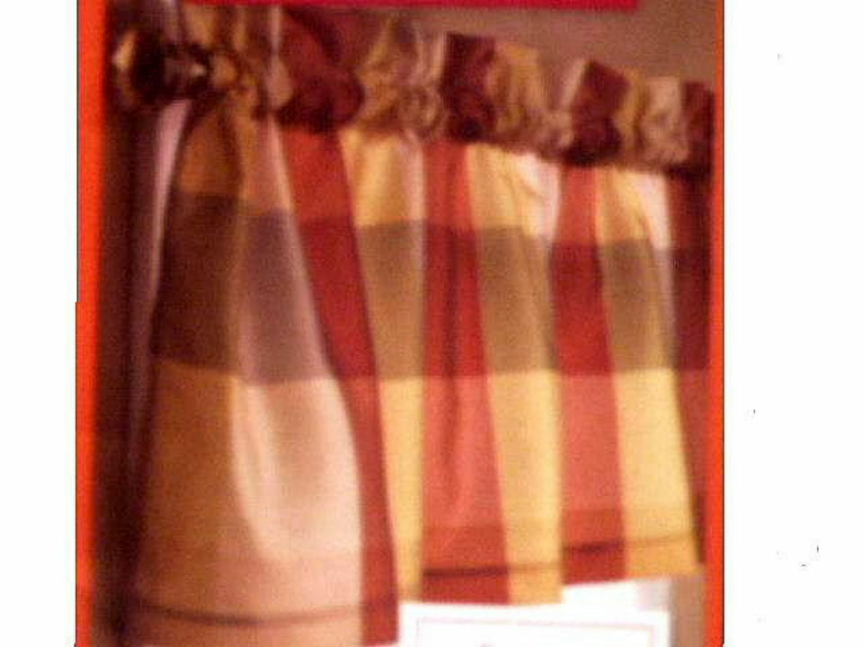 Beacon Looms Lined Plaid Curtains Valance