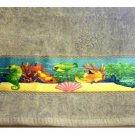 Seahorses Tropical Fish Hand Towels