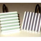 Checker Stripe Shower Curtain Hooks