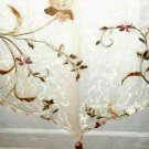 JC Penney Floral Ascot Valance Embroidered Curtain