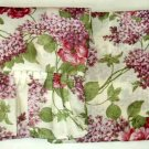 Floral Curtains Roses and Lilacs Curtain Set
