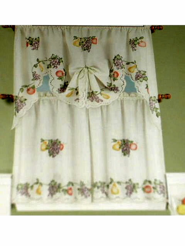G Les Pears Fruit Kitchen Curtains Set