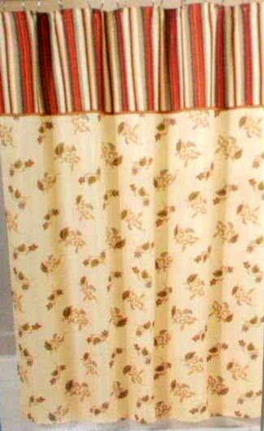 Floral and Stripes Essential Home Shower Curtain