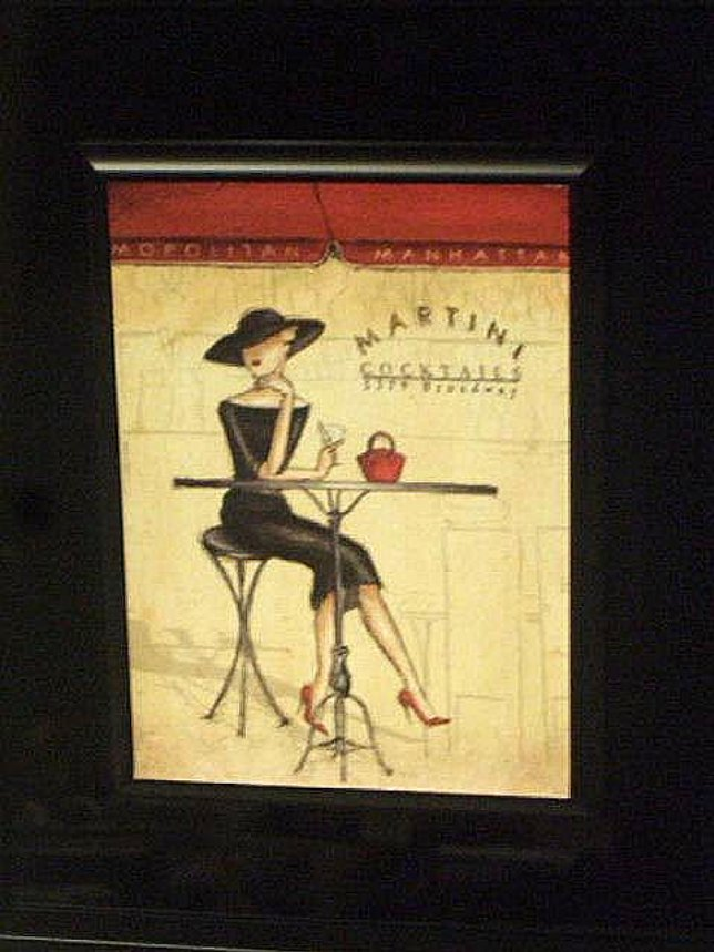 Cosmopolitan Martini Cocktails Broadway Framed Wall Art