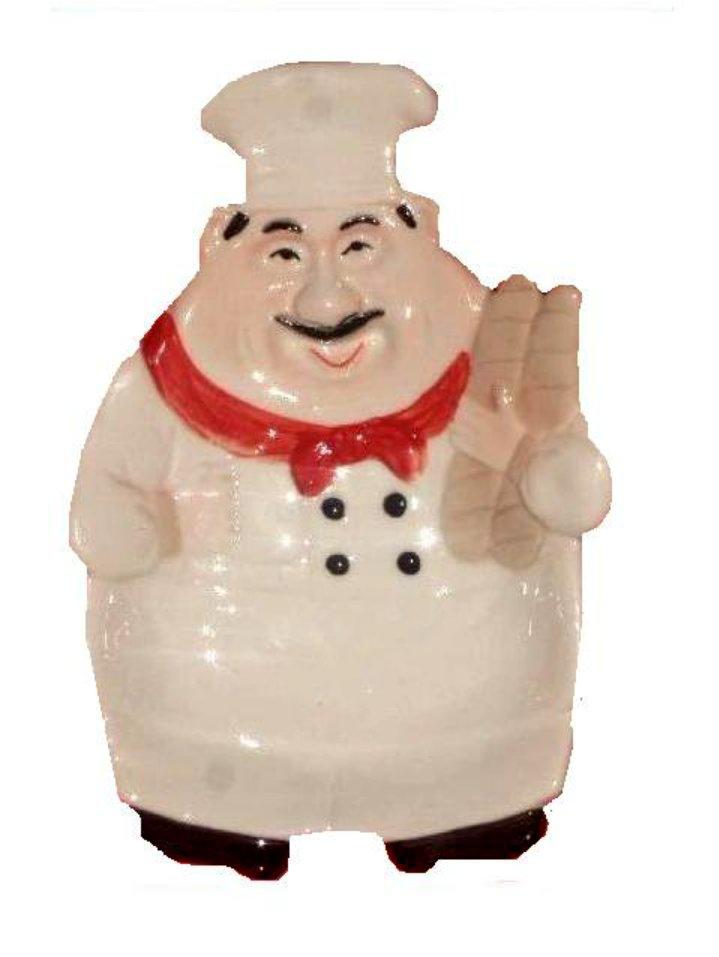 Fat Italian Chef Spoon Rest Chefs Kitchen Decor