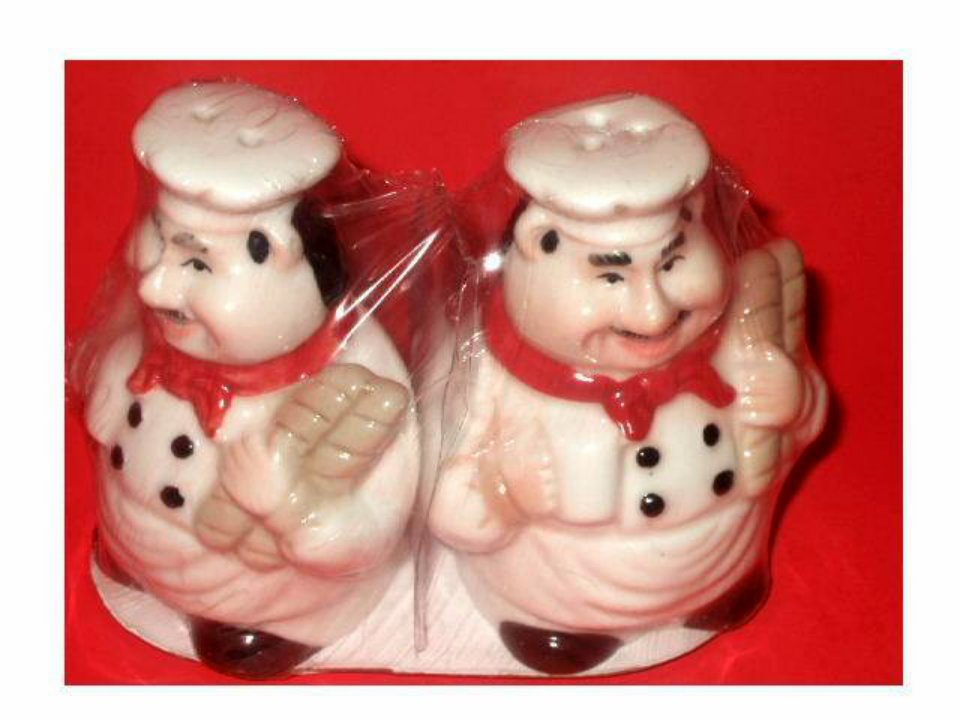 Fat Italian Chef Salt Pepper Shakers