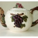 Vineyard Grapes Ceramic Teapot