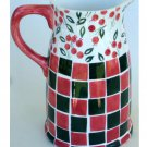 Red and Green Cherries Kitchen Vase