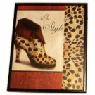 Leopard Print Shoe Framed Wall Decor