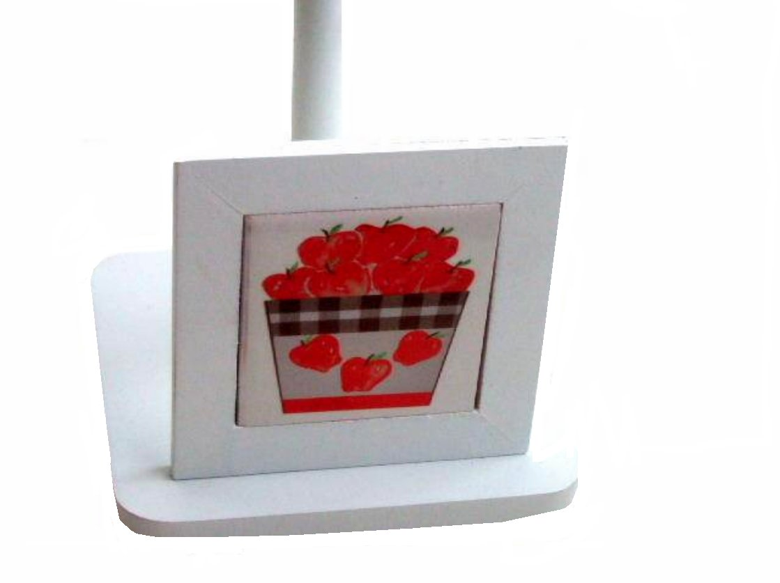 Country Apples Paper Towel Holder Wood Tile
