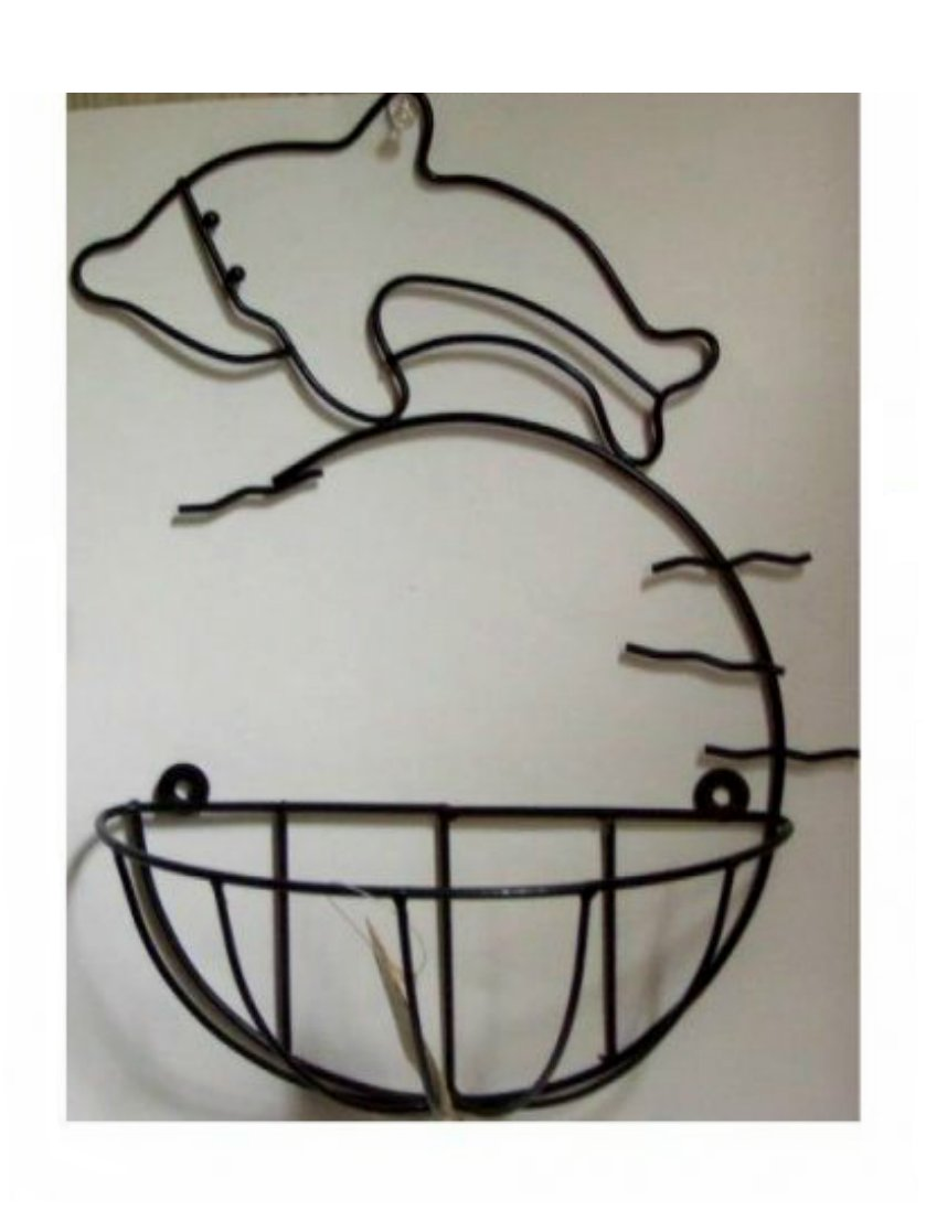 Dolphin Metal Wall Basket Beach Decor