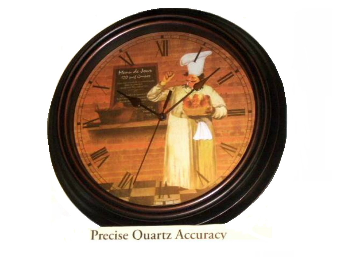 Fat French Chef Kitchen Wall Clock