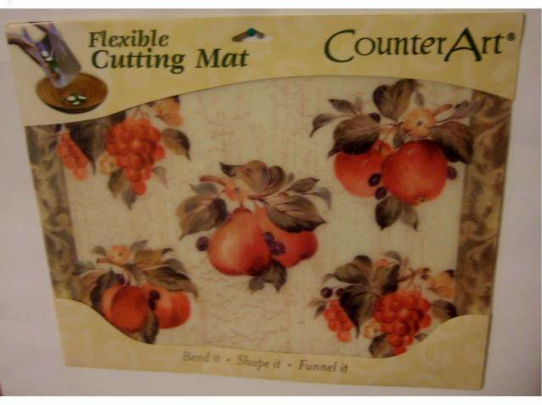 Fruit Cutting Mat Grapes Apples Pears Peaches