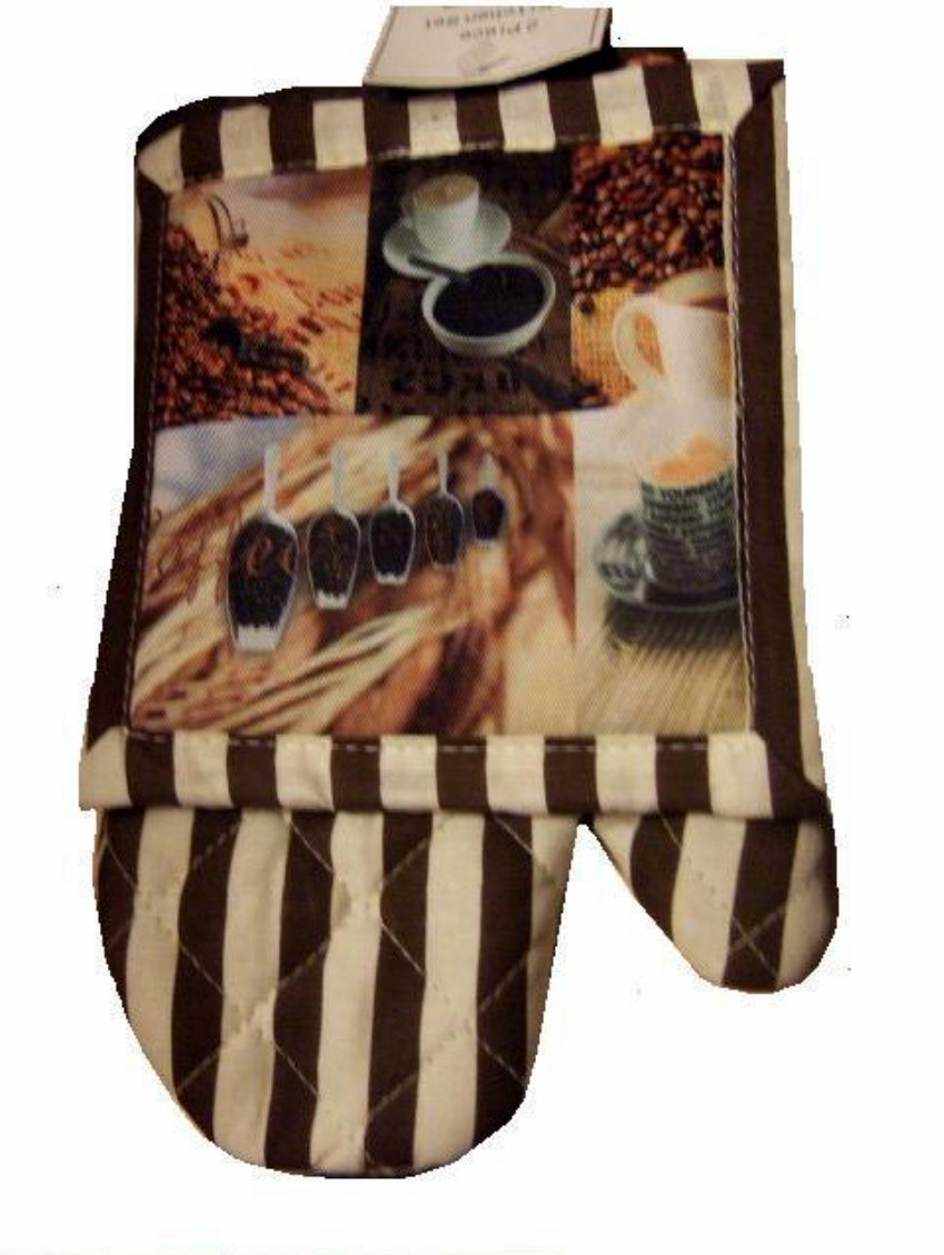 Coffee Oven Mitt Pot Holder Kitchen Linens Set