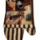 Coffee Oven Mitt Pot Holder Kitchen Linens Set
