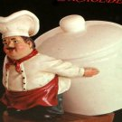 Fat Italian Chef Coffee Canister Jar Holder Figurine